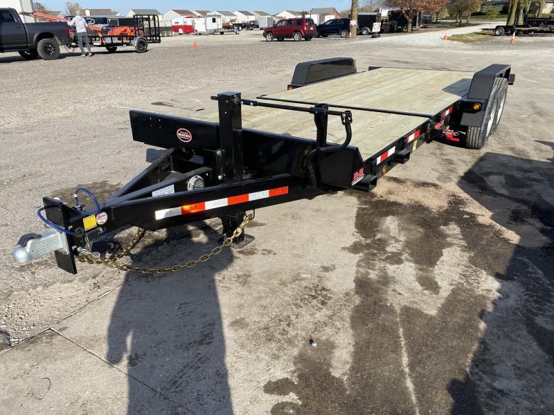 2021 B-B TBCT2220ET-10K Equipment Trailer - 85x22 (6+16) TA Tilt - D-Rings - Pallet Fork Holders - Torsion Axles (GVW:  20000)