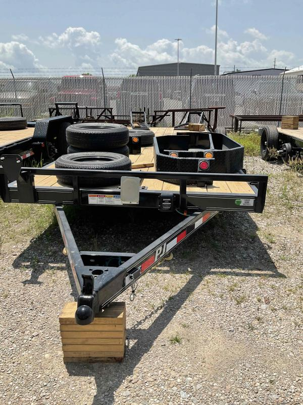 2022 PJ Trailers 1C272 (CE222) Equipment Trailer - 83X22 (20+2) TA - Dovetail - Fold Up Ramps - 5 Inch Channel Frame (GVW:  9899)