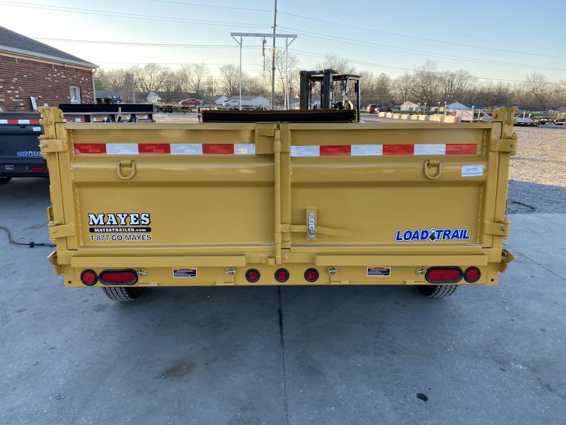 2021 Load Trail DT8314072 Dump Trailer - 83x14 TA Dump - 24 Inch Dump Sides - 2 Way Gate - 10 Gauge Floor - Slide In Ramps - Scissor Hoist - Spare Tire MOUNT ONLY (GVW:  14000)