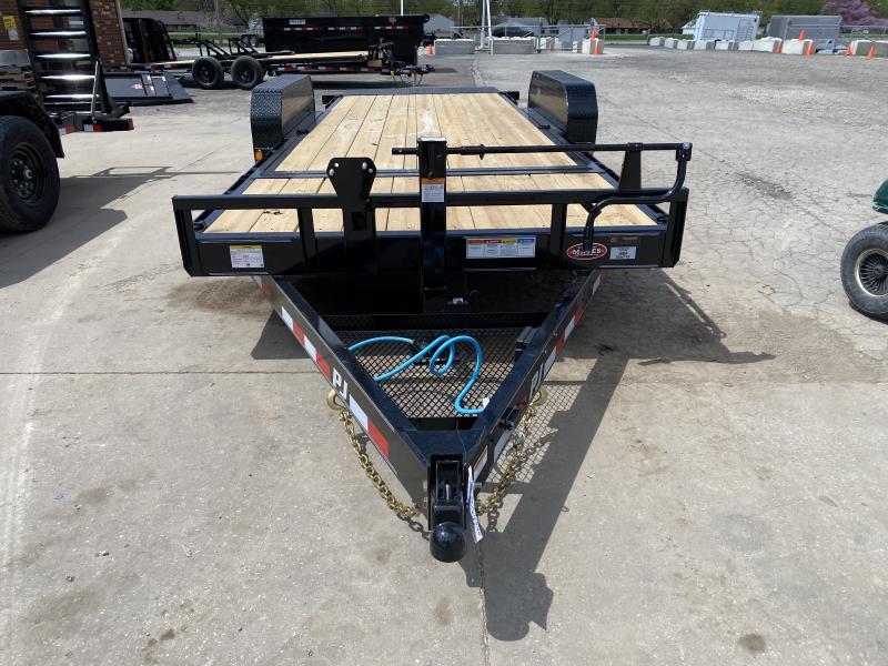 2021 PJ Trailers T6202 Equipment Trailer - 83X20 (4+16) TA Tilt - Torsion Axles - 4 Foot Stationary / 16 Foot Tilt Deck (GVW:  14000)