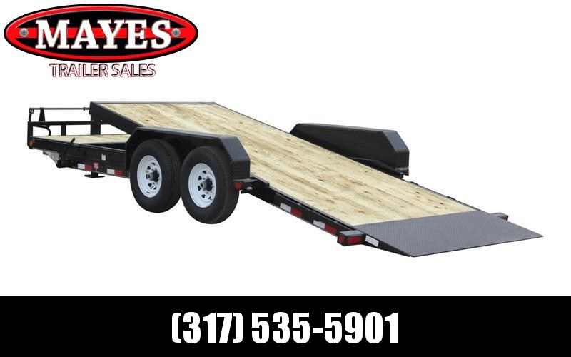2021 PJ Trailers T6202 Equipment Trailer - 83X20 (4+16) TA Tilt - Torsion Axles - 4 Foot Stationary / 16 Foot Tilt Deck (GVW:  14000)