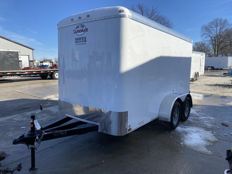 2021 6x12 TA Cargo Mate BL612TA2 Enclosed Cargo Trailer - Double Door with Dual Cambars - Torsion (GVW:  7000)