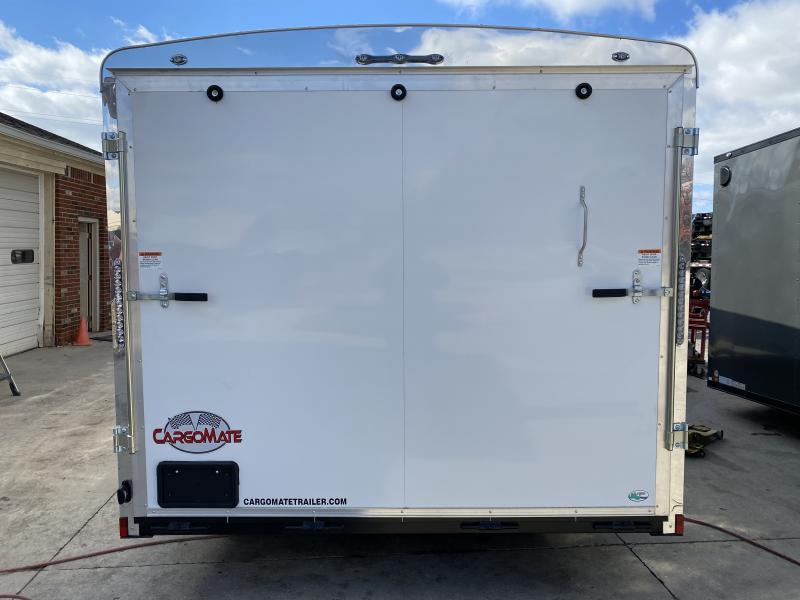 2021 Cargo Mate CM822TA3 Enclosed Cargo Trailer  - 102x22 TA - 102 Inch Wide Body Design - Ramp Door - No Show Beavertail - Additional Floor Crossmembers - Alum. Rims (GVW:  9800)