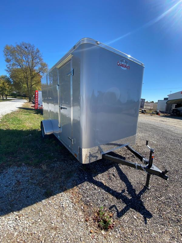 2021 Cargo Mate SSV612SA Enclosed Cargo Trailer - 6x12 SA - Ramp Door - 6 Inch Additional Height - Flat Front (GVW:  2990)