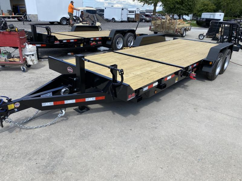 "2021 B-B TBT2216ET Equipment Trailer - 22' (6+16) TA Partial Tilt - Torflex Axles - Pallet Fork Holders - 12"" O/C Crossmembers (GVW:  16000)"