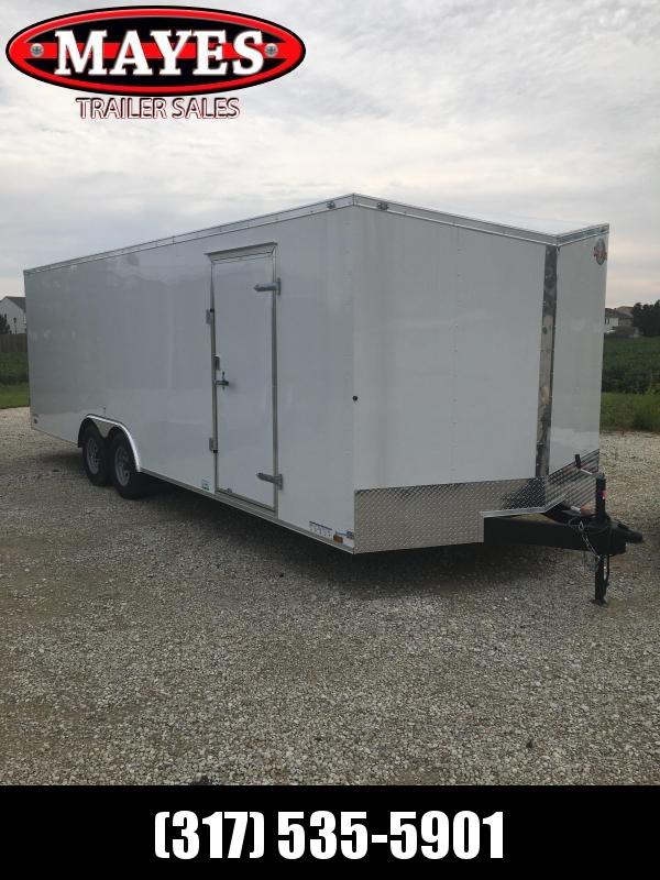 2021 Cargo Mate EHW8.524TA3 Enclosed Cargo Trailer - 102x24 - Ramp Door - Additional Floor Crossmembers - D-Rings - Slant V-Nose (GVW:  9800)