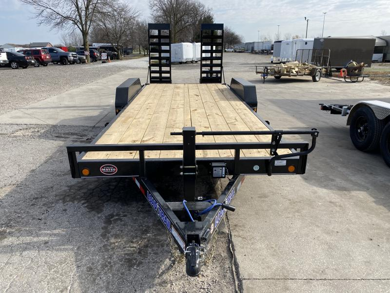 2021 Load Trail XH8320072B Car / Racing Trailer - 83x20 (18+2) TA - 6 Inch Channel Frame - Fold Up Ramps - D-Rings (GVW:  14000)