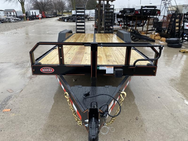 2020 20 Foot (17+3) TA Hank HM-P7K202SKID Equipment Trailer - Spring Assist HD Stand Up Ramps - 7 Inch Channel Main Frame - COMMERCIAL MODEL (GVW:  14000)