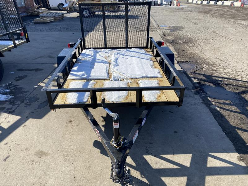 2021 American Manufacturing Operations (AMO) UL081 Utility Trailer - 60x8 SAUT - Treated Wood Floor - Tailgate (GVW:  2000)