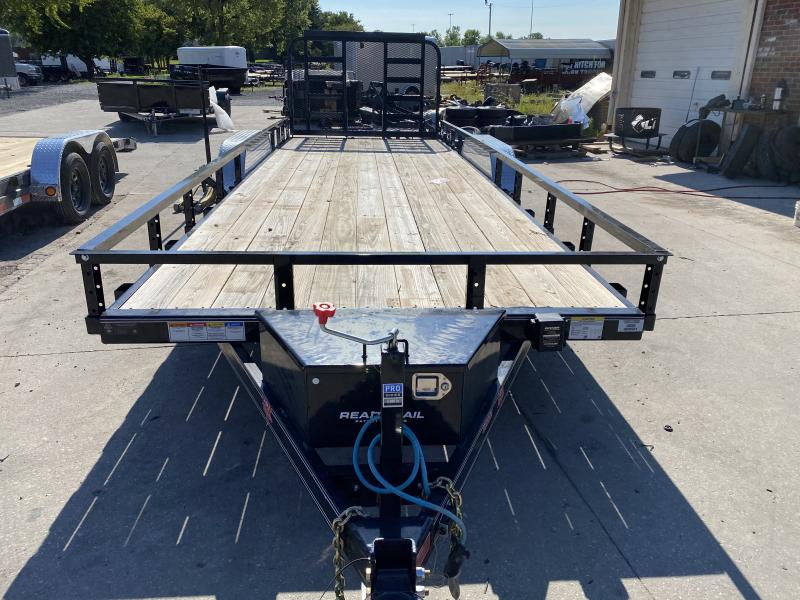 "2020 83x22 PJ Trailers UL 83"" Tndm Axle Channel Utility Trailer - Straight Deck w/ 4' HD Gate (GVW: 9990)"