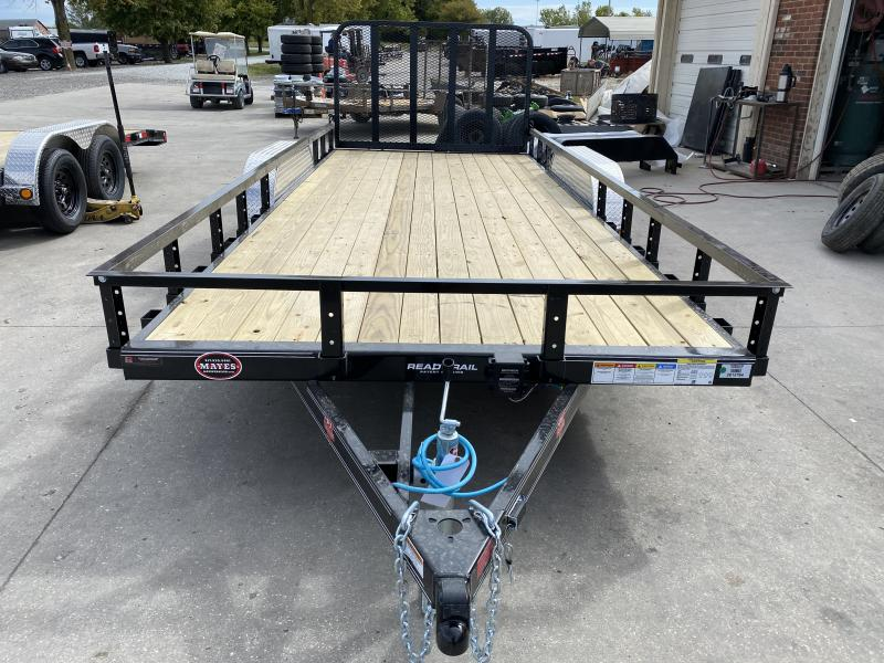 2021 PJ Trailers UL182 Utility Trailer - 83x18 TAUT - Straight Deck - 4 Foot Fold Up Gate (GVW:  7000)
