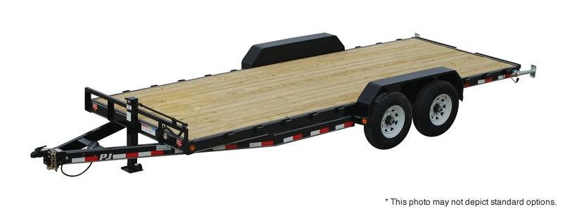 "2021 PJ Trailers 20'x6"" Channel Equipment Trailer - 83""X20' (18+2) TA Gooseneck - Dovetail - Split HD Gate - Toolbox (GVW:  15680)"