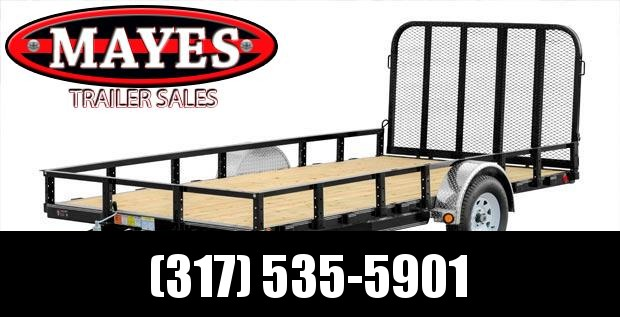 2021 PJ Trailers U8141 Utility Trailer - 83x14 SA - Straight Deck - Fold In Gate - Treated Wood Floor (GVW:  2995)