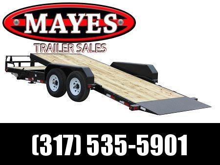 2021 PJ Trailers T6162 Equipment Trailer - 82x16 TA Tilt - Torsion Axles - 16 Foot Tilt - Treated Wood Floor (GVW:  14000)