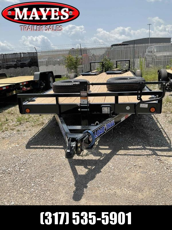 2021 Load Trail XH8322072 Equipment Trailer - 83x22 (20+2) TA - 6 Inch Channel Frame - Dovetail - Fold Up Ramps - D-Rings (GVW:  14000)