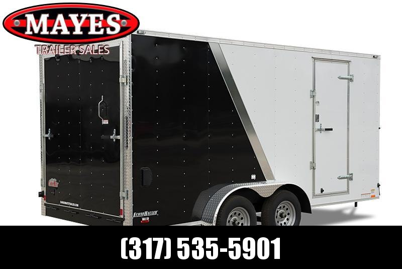 2021 Cargo Mate EHW716TA2 Enclosed Cargo Trailer - 7.5x16 TA - Ramp Door - 12 Inch Additional Height - Slant V-Nose - Black Out Package - D-Rings - 7.5 Wide Body Design (GVW:  7000)