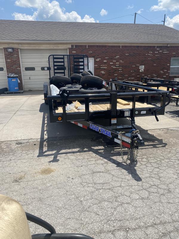 2022 Load Trail CS8322072 Equipment Trailer - 83x22 (20+2) TA - 6 Inch Channel Frame - Split Fold Gate - D-Rings - Spare Tire MOUNT ONLY (GVW:  14000)