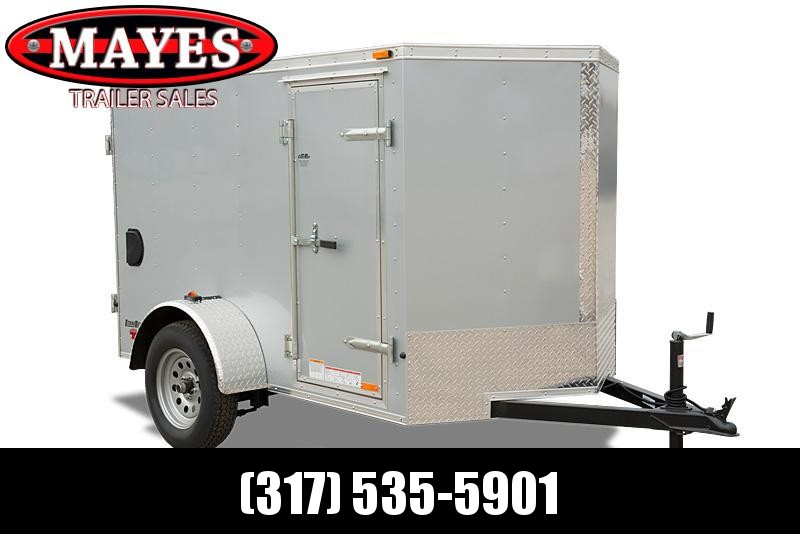 2021 Cargo Mate EHW58SA Enclosed Cargo Trailer - 5X8 SA - Ramp Door - E & V Series Pkg #2 - 24 Inch Alum. Tread Plate Stoneguard (GVW:  2990)