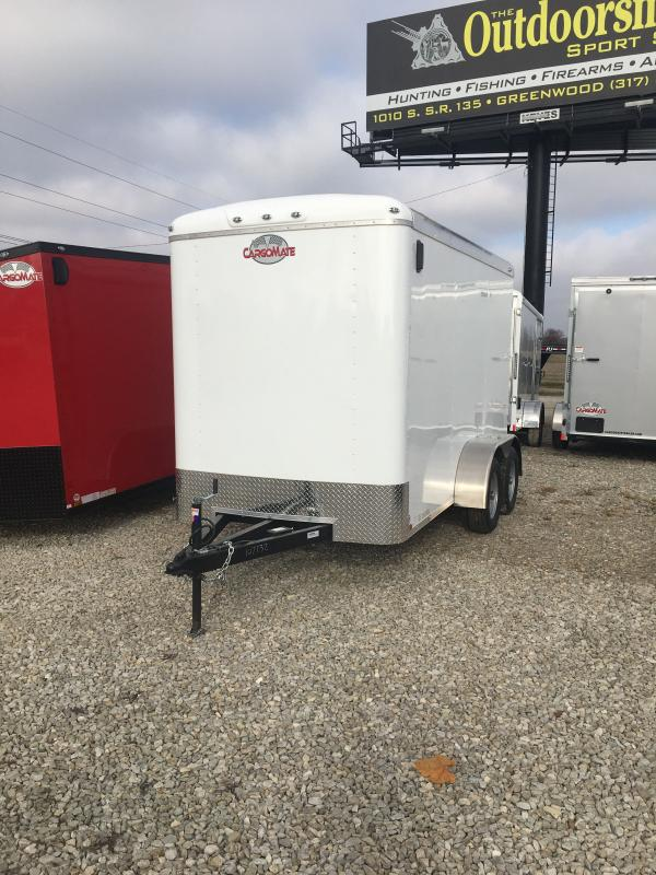 2021 Cargo Mate BL612TA2 Enclosed Cargo Trailer - 6x12 TA - 6 Inch Additional Height - Ramp Door - Torsion Axles - HD Jack - Ext. Triple Tube Tongue (GVW:  7000)