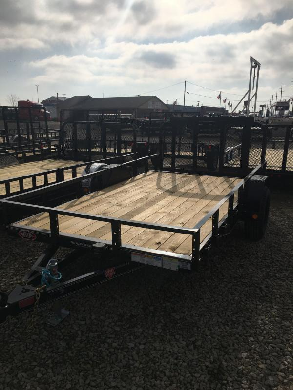 2021 PJ Trailers U7121 Utility Trailer - 77x12 (10+2) SA - Dovetail - 3 Foot Fold Up Gate - Ramp Gate Transition Lip (GVW:  (4995)