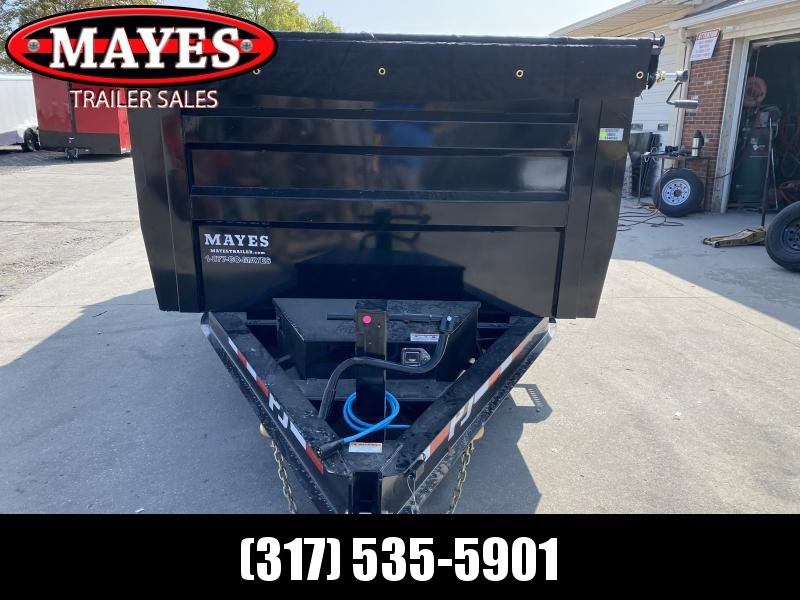 2021 PJ Trailers DL142 Dump Trailer - 83x14 TA Low Pro Dump - Split/Spread Gate - Oil Bath Axles - Tarp Kit - Ramps (GVW:  16000)