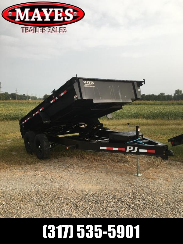 2021 PJ Trailers DG142 Dump Trailer 93X14 TA Low Pro Dump - Split Gate - Spring Suspension - NO TARP - NO RAMPS (GVW:  14000)