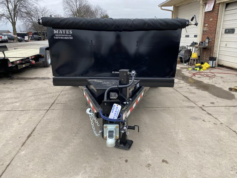 2021 B-B LPD83X14E703 Dump Trailer - 83x14 TA Low Pro Dump - Scissor Hoist - 10 Gauge Sides - 3/16 Inch Steel Floor - Slide In Ramps - D-Rings - 3-Way Gate (GVW:  14000)