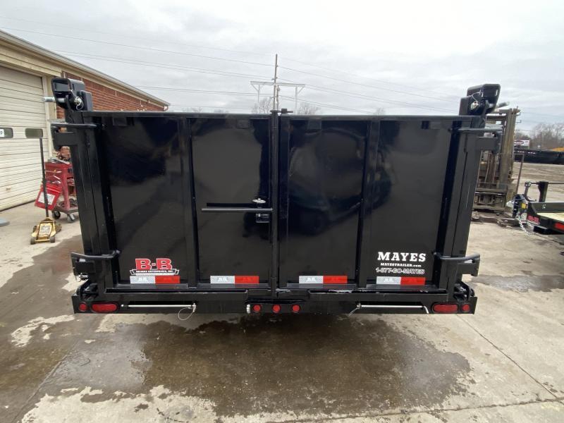 2021 B-B LPD83X14E703 Dump Trailer - 83x14 TA Low Pro Dump - Scissor Hoist - 10 Gauge Sides - 3/16 Inch Steel Floor - Slide In Ramps - D-Rings - 3-Way Gate (GVW:  14000)