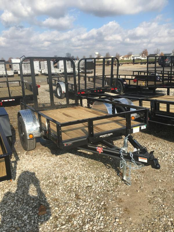 2021 PJ Trailers U6081 Utility Trailer - 60 Inch x 8 Feet SA - Straight Deck - Fold In Gate (GVW:  2995)