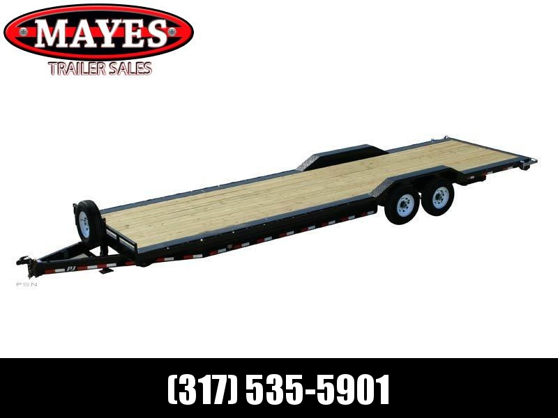 2021 PJ Trailers B8362 Equipment Trailer - 81x36 (32+4) TA Super Wide - Gooseneck - Toolbox - Oil Bath Axles - Dovetail - Slide In Ramps (GVW:  14000)