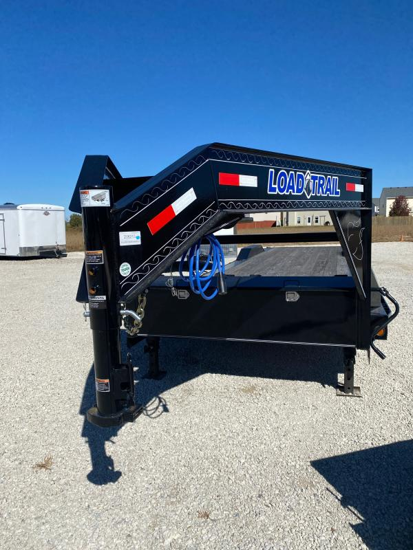 2020 102x32(30+2' Dovetail) Load Trail Gooseneck Carhauler - w/ Rear Slide-in Ramps (GVW: 14000)