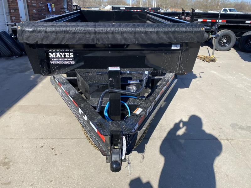2021 PJ Trailers DL142 Dump Trailer - 83x14 TA Low Pro Dump - Tarp Kit - Ramps - Split/Spread Gate (GVW:  14000)