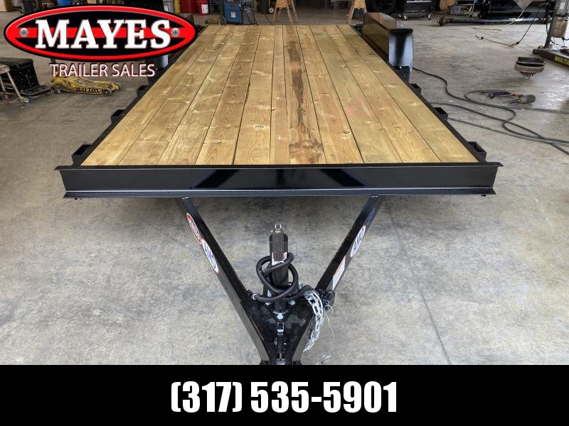 2021 American Manufacturing Operations (AMO) UT182 Utility Trailer - 82x18 (16+2) TA - Dovetail - Treated Wood Floor - Slide In Ramps - 15 Inch Tires and Wheels (GVW:  7000)