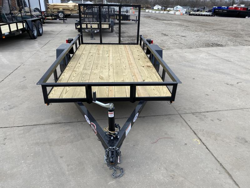 2021 American Manufacturing Operations (AMO) UL101 Utility Trailer - 60x10 SAUT - Treated Wood Floor - Tailgate (GVW:  2000)