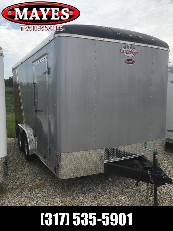 Used 2018 Cargo Mate BL814TA2 Enclosed Cargo Trailer - Ramp Door - Side Door - Sprayed Floor - Cabinets - D-Rings (GVW:  7000)