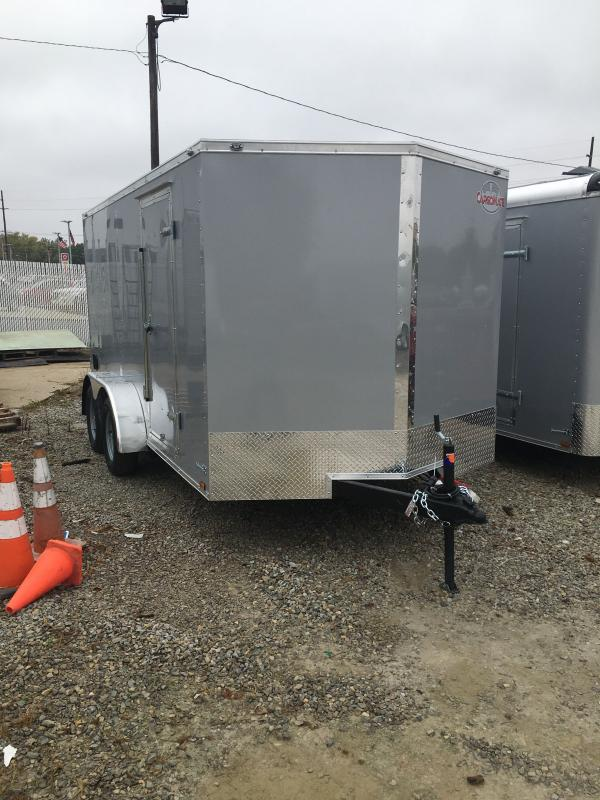 2021 Cargo Mate EHW714TA2 Enclosed Cargo Trailer - 7x14 TA - Ramp Door - Spring Suspension (GVW:  7000)