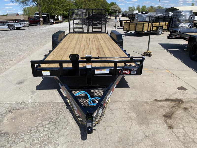 2022 PJ Trailers 1C252 Equipment Trailer - 83x20 (18+2) TA - 6 Inch Channel Frame and Tongue - Dovetail - Split HD Gate (GVW:  14000)