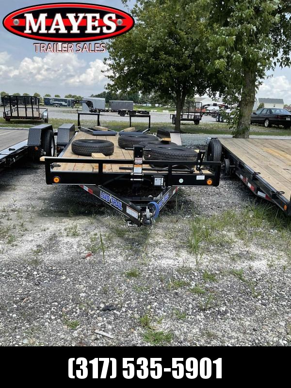 2021 Load Trail XH8320072 Equipment Trailer - 83x20 (18+2) TA - Dovetail - D-Rings - Fold Up Ramps (GVW:  14000)