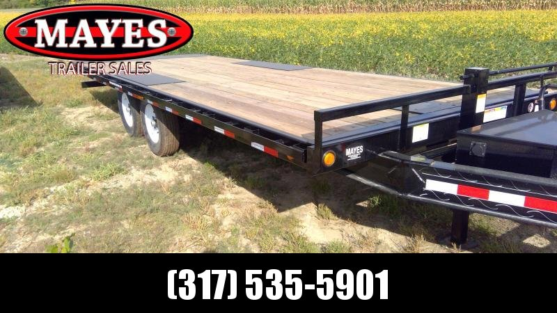 2020 96x22 Foot Full Tilt PJ Trailers T8222 Equipment Trailer = Deckover - Winch Plate (GVW:  14000)