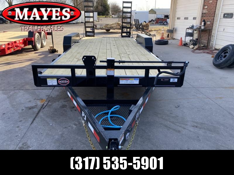 2021 PJ Trailers CC202 Equipment Trailer  83x20 (18+2) TA - 6 Inch Channel Frame - Dovetail - Fold Up Ramps (GVW;  14000)