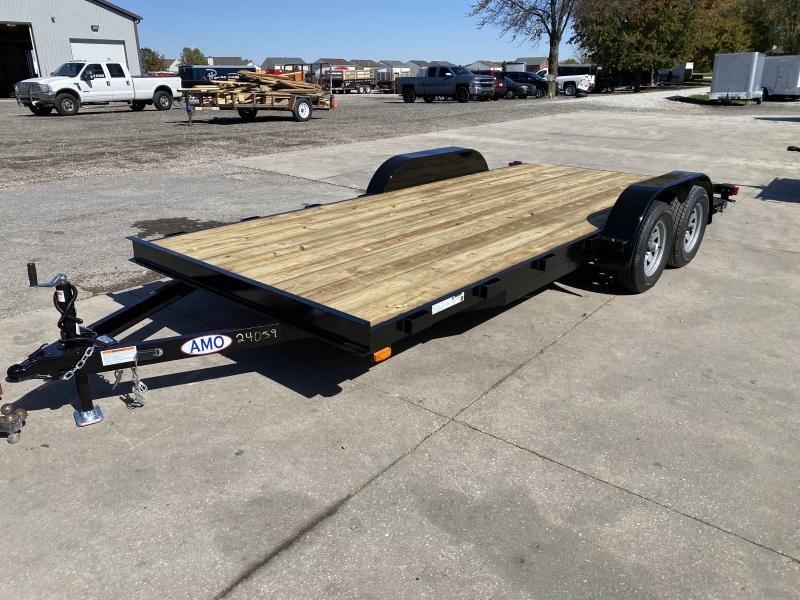 2021 American Manufacturing Operations (AMO) UT182 Utility Trailer - 82x18 (16+2) TA - Dovetail - Slide In Ramps   - Wrapped Tongue - Electric Brakes (GVW:  7000)