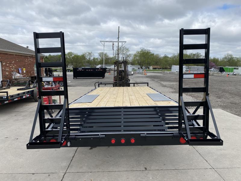 2021 PJ Trailers F8202 Equipment Trailer - 102X20 (17+3) TA - Dovetail - 60 Inch Fold Up Ramps - 8 Inch I-Beam Frame - Deckover (GVW:  14000)