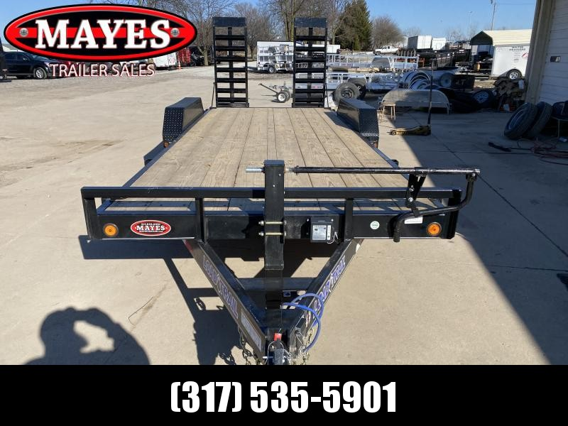 2021 Load Trail XH8320072 Equipment Trailer - 83x20 (18+2) TA - 6 Inch Channel Frame - Fold Up Ramps - D-Rings (GVW:  14000)