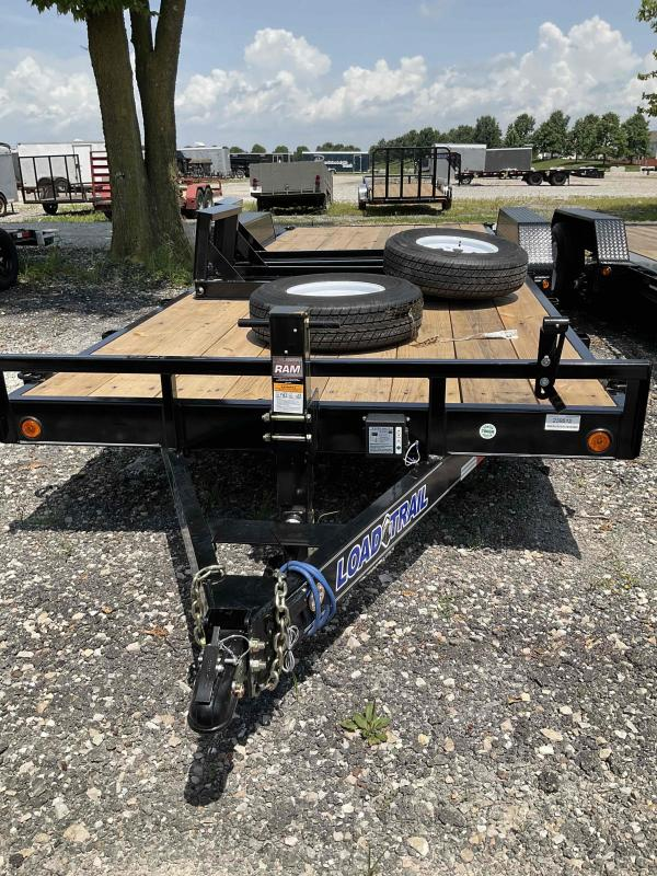 2021 Load Trail XH8322072 Equipment Trailer - 83x22 (20+2) TA - 6 Inch Channel Frame - Fold Up Ramps - D-Rings (GVW:  14000)
