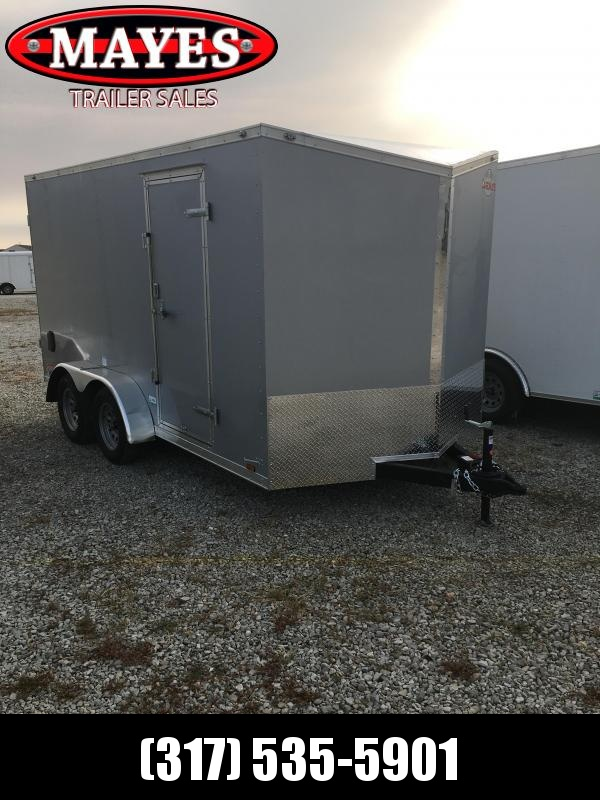 2021 Cargo Mate EHW714TA2 Enclosed Cargo Trailer - 7x14 TA - Side by Side Package - Ramp Door - 6 Inch Additional Height (GVW:  7000)