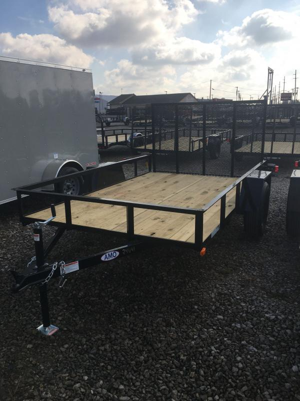 2021 American Manufacturing Operations (AMO) US101 Utility Trailer - 76 Inch x 10 Foot SA - Treated Wood Floor - Tailgate (GVW:  2990)