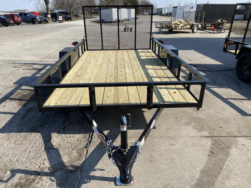 2021 American Manufacturing Operations (AMO) US121 Utility Trailer - 76x12 SA - Treated Wood Floor - Tailgate (GVW:  2990)