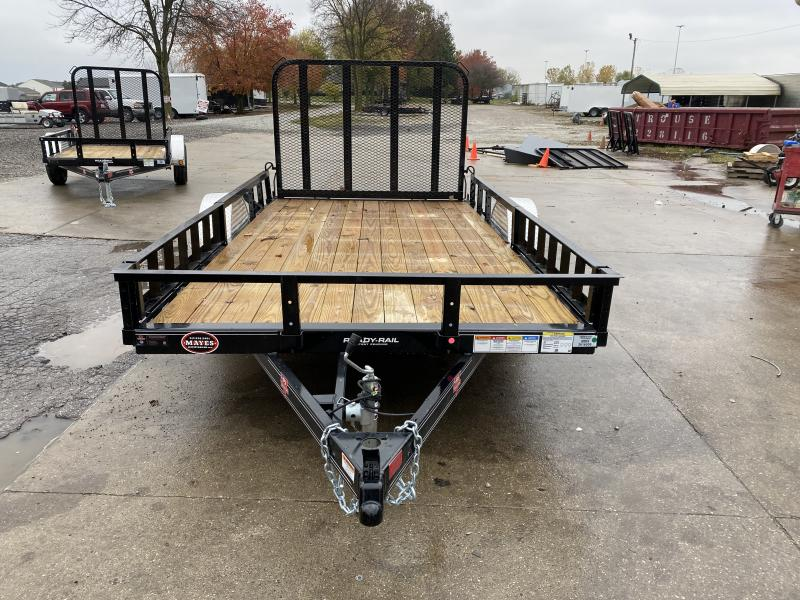2021 PJ Trailers U7121 Utility Trailer - 77x12 SAUT - Straight Deck - Fold In Gate - ATV Ramps - Spare Tire MOUNT ONLY (GVW:  2995)