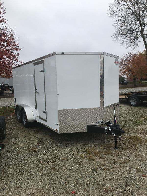 2021 Cargo Mate EHW716TA2 Enclosed Cargo Trailer - 7x16 TA - E&V Series Pkg. 2 - Ramp Door - Side Door - Spring Suspension (GVW:  7000)