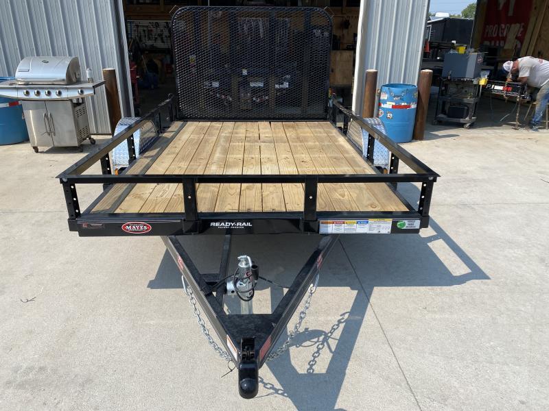 2022 PJ Trailers 1U141 Utility Trailer (U7101) 77X10 SA - Straight Deck -Fold In Gate (GVW:  2995)